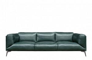 Canapea din piele pentru 3 persoane Moore Green Versmissen