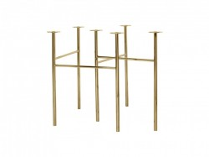 Set picioare aurii pentru masa dining Mingle Gold Large Ferm Living