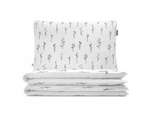 Lenjerie de pat alba din bumbac Twigs Double Mumla (diverse dimensiuni)