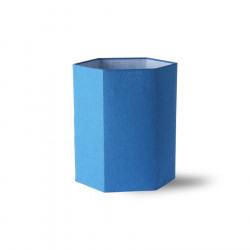Abajur albastru din in Hexagonal Lampshade Blue HK Living