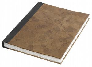 Agenda maro/neagra din piele 22x30 cm Leaves Leather Nordal