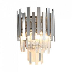 Aplica argintie din cristal si metal Aspen Milagro Lighting