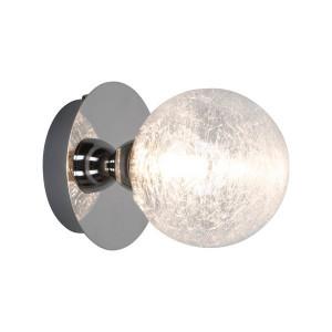 Aplica argintie din metal si sticla Brava Zuma Line