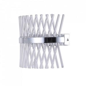 Aplica argintie din sticla si metal cu LED Adelard MW Glasberg