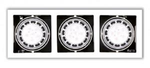 Aplica cu halogen alba din metal cu 3 becuri Matrix Triple White Maxlight
