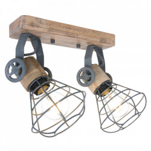Aplica maro/gri din lemn si metal Geurnesey Duo Steinhauer