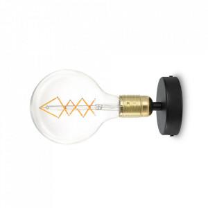 Aplica neagra/aurie din otel Uno Bulb Attack
