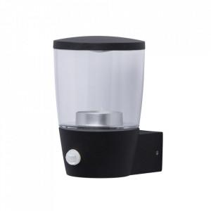 Aplica neagra din metal si sticla cu 3 LED-uri pentru exterior Mercury MW Glasberg