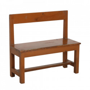 Banca maro din lemn de tec 73 cm School Raw Materials