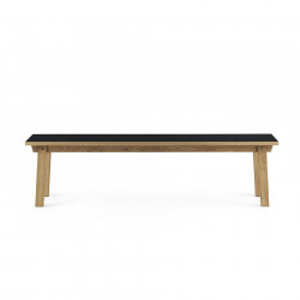 Bancheta maro/neagra din lemn si linoleum 160 cm Slice Normann Copenhagen