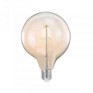 Bec dimabil transparent cu filament LED E27 8W Sphere XL LABEL51