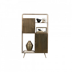 Biblioteca din metal si alama 140 cm Chief Be Pure Home