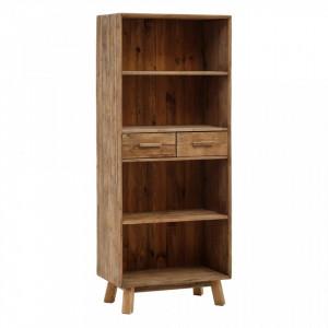Biblioteca maro din lemn de pin 190 cm Salon Ixia