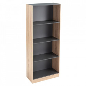 Biblioteca maro/gri din MDF 147 cm Pernille Unimasa