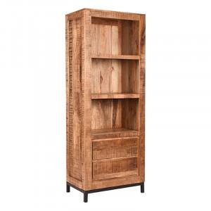 Biblioteca maro/neagra din metal si lemn 185 cm Ghent LABEL51