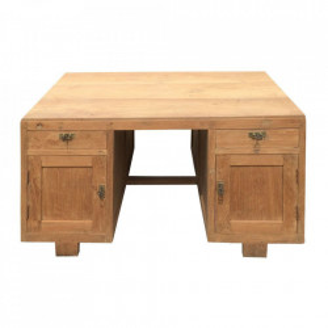 Birou maro din lemn de tec 90x120 cm Siente Denzzo