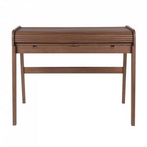 Birou maro din lemn si MDF 61x110 cm Barbier Walnut Zuiver