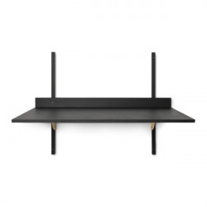 Birou pentru perete negru/maro alama din placaj 45x87 cm Sector Ferm Living