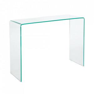 Birou transparent din sticla 35x100 Fantome Invicta Interior