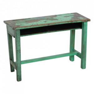 Birou verde din lemn de tec 30x76 cm Gumia Raw Materials