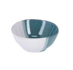 Bol alb/albastru din ceramica 17 cm Nelba La Forma