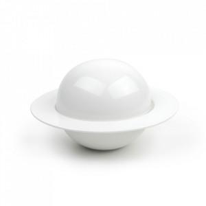 Bol cu capac alb din portelan 18,2 cm Flavor Aerts