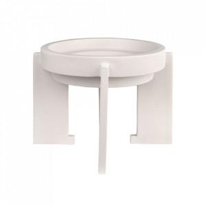 Bol decorativ alb din ceramica 34 cm Nyp Versmissen