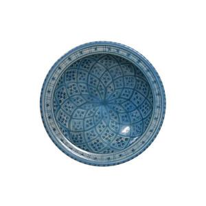Bol din ceramica albastra Souk Medium E HK Living