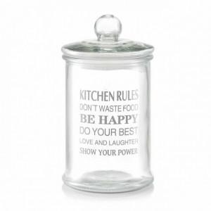 Borcan cu capac transparent din sticla 2,4 L Kitchen Rules Zeller