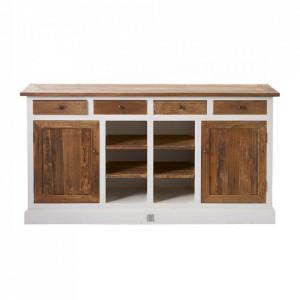 Bufet inferior maro/alb din lemn 175 cm Driftwood Riviera Maison