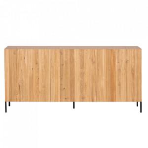 Bufet inferior maro din lemn de stejar 180 cm Gravure Woood