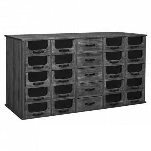 Bufet inferior negru din lemn 171 cm Pharmacy Sideboard Nordal