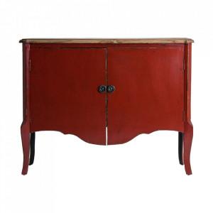 Bufet inferior rosu/maro din lemn 120 cm Samari Vical Home