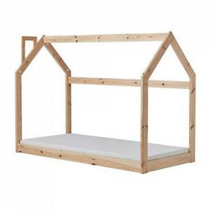 Cadru pat maro din lemn 97x206 cm My Home Quax