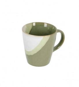 Cana alba/verde din ceramica 9,5x10,1 cm Naara La Forma