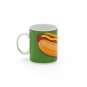 Cana multicolora din portelan 8x10 cm Hot Dog Seletti
