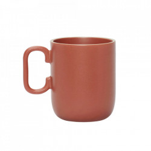 Cana rosie din ceramica 8x10 cm Andy Hubsch