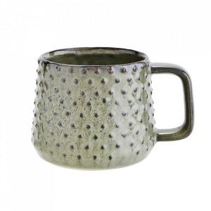 Cana verde/maro din ceramica 8x9,5 cm Boko Madam Stoltz