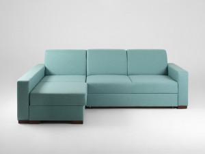Canapea albastra din polipropilena pentru 3 persoane Lozier Custom Form