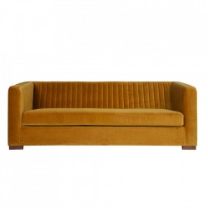 Canapea galbena din catifea 215 cm Mustard Nouveau Be Pure Home