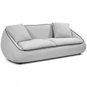 Canapea gri deschis din textil pentru 3 persoane Safira La Forma