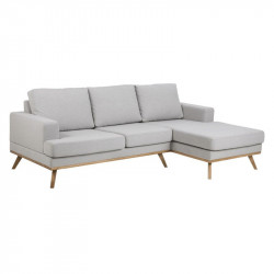 Canapea gri/maro din textil si lemn cu colt pentru 2 persoane Norwich Right Actona Company