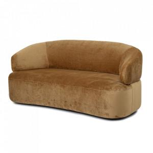 Canapea maro din poliester si lemn de pin 172 cm Coil Bloomingville