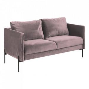 Canapea roz/neagra din metal si textil pentru 2,5 persoane Kingsley Actona Company