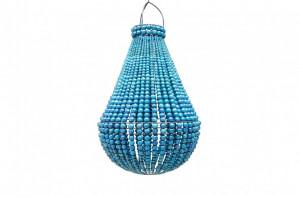 Candelabru albastru din lemn 40 cm Chandelier Versmissen