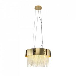 Candelabru auriu din metal si cristal cu 8 becuri Astor Milagro Lighting