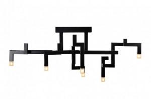 Candelabru negru din inox cu 6 becuri Elements Versmissen