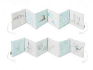 Carte cu ilustratii din bumbac Soft Aqua Cam Cam