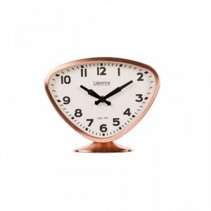 Ceas de masa din fier si PVC 19x23 cm Desk Copper Triangle LifeStyle Home Collection