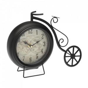 Ceas de masa negru din fier 23x29 cm Karta Versa Home